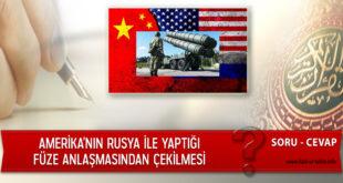 Amerika'nın Rusya İle Yaptığı Füze Anlaşmasından Çekilmesi
