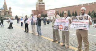 RUSYA KIZIL MEYDAN'DA KIRIM'LI MÜSLÜMANLAR TUTUKLANDI