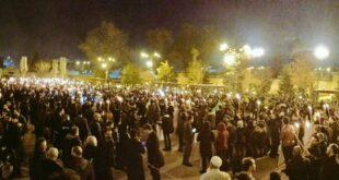 Fatih Camii'nden Saraçhane'ye insan seli darbeci Sisi'yi protesto etti