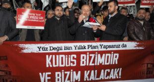"""Hizb-ut Tahrir Türkiye Vilayeti: """"Yüz Değil Bin Yıllık Plan Yapsanız da #KudüsBizimdirBizimKalacak!"""""""